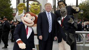 Donald Trump with Monstersb